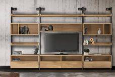 Social bookcase & media unit