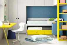 Twin bed & storage